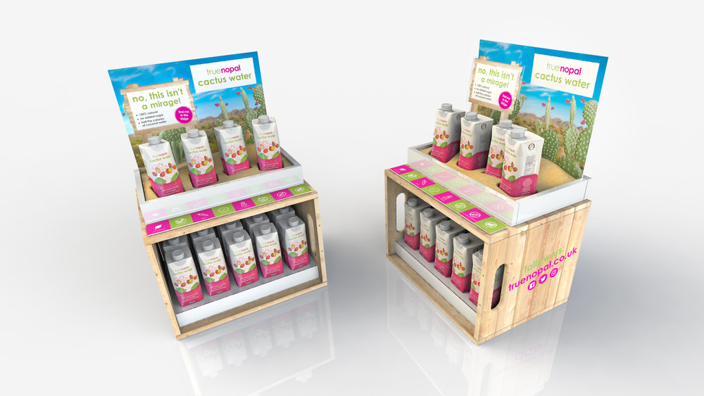 Countertop Display Unit for True Nopal UK Launch.