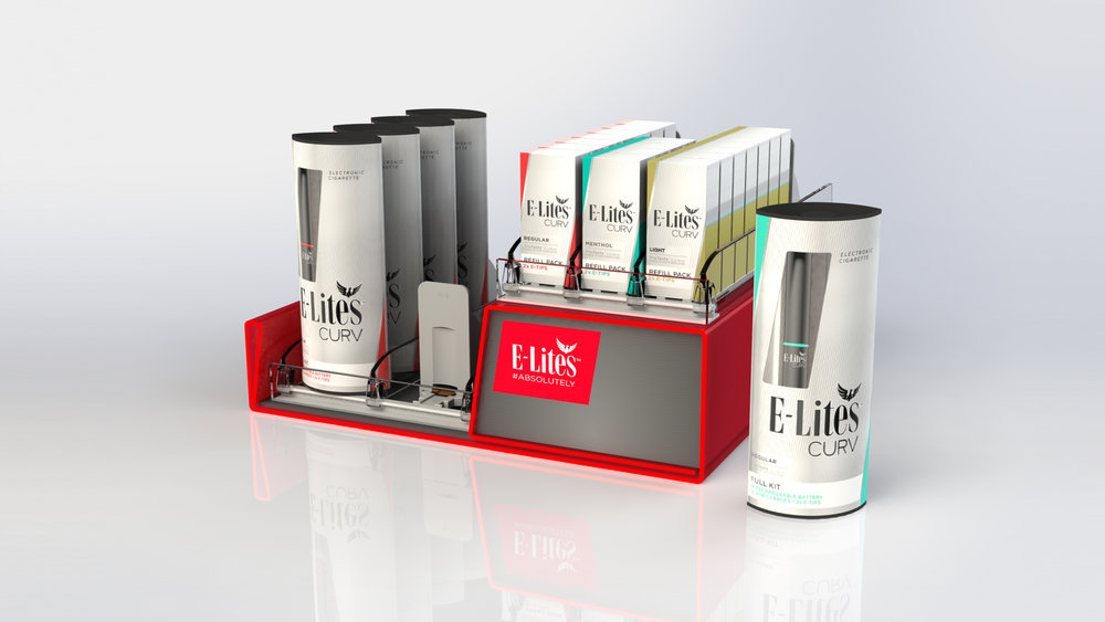 E-Lites Curv Shelf Highlighter. Prototyped and manufactured.