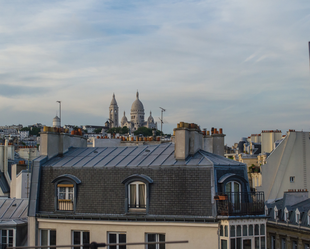 Sacre Coeur from a Pigalle rooftop