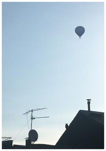 Hot air balloon in Puigcerda