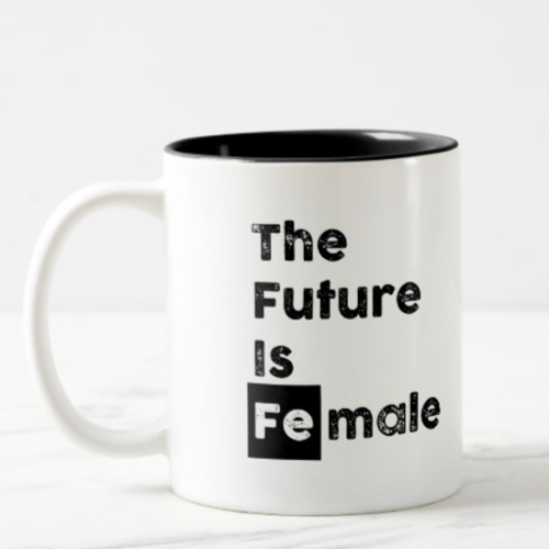 The Future is Female | Fe Bold Chem Symbol Mug