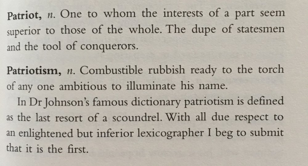 Ambrose Bierce,  The Devil's Dictionary