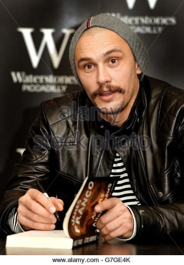 "That's a stock image from a website called alamy.com, which you could have probably figured out on your own from seeing the URL underneath it or looking at the words ""alamy stock photo"" stamped on the picture. James Franco looks surprised in this photo, almost as if he's saying, ""Hold up, you actually read this?"""