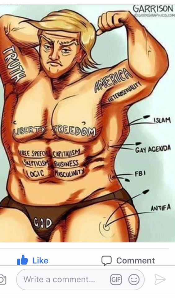 Ben Garrison made this picture. Think about that the next time you do something stupid. You'll feel better immediately.