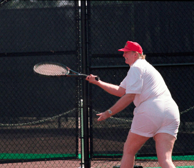 I ripped this image off the website  Know Your Meme:   http://knowyourmeme.com/photos/1270036-donald-trumps-tennis-photo .