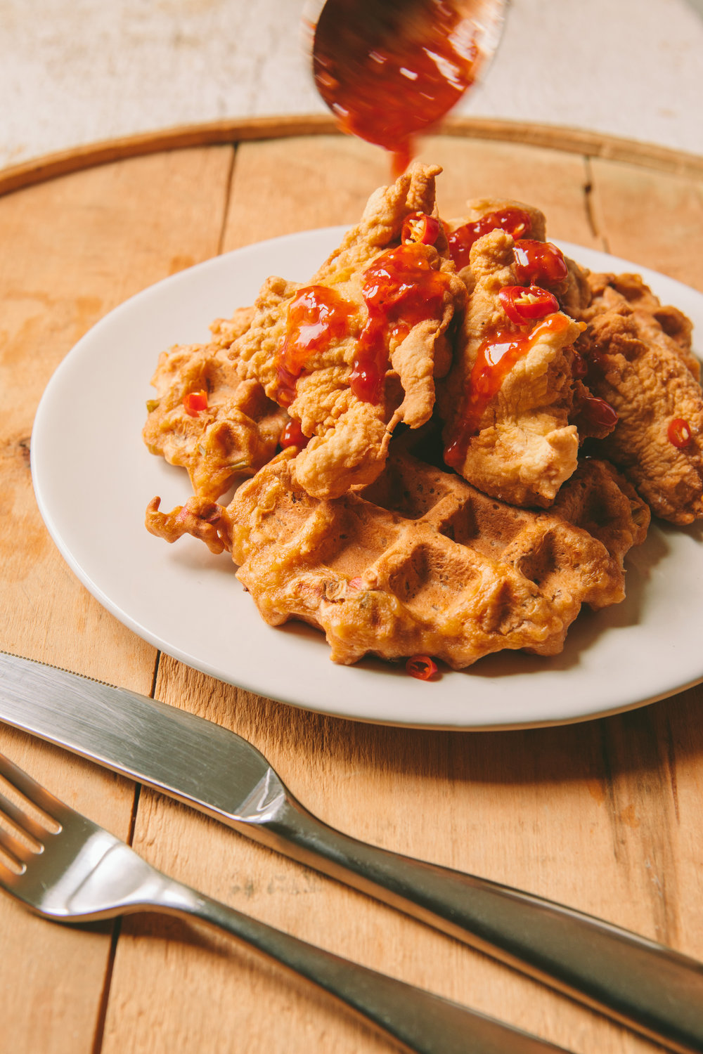 The Art of the Mashup_General Gau Chicken and Pork Fried Waffles_Brian Samuels Photography_January 2017-8878.jpg
