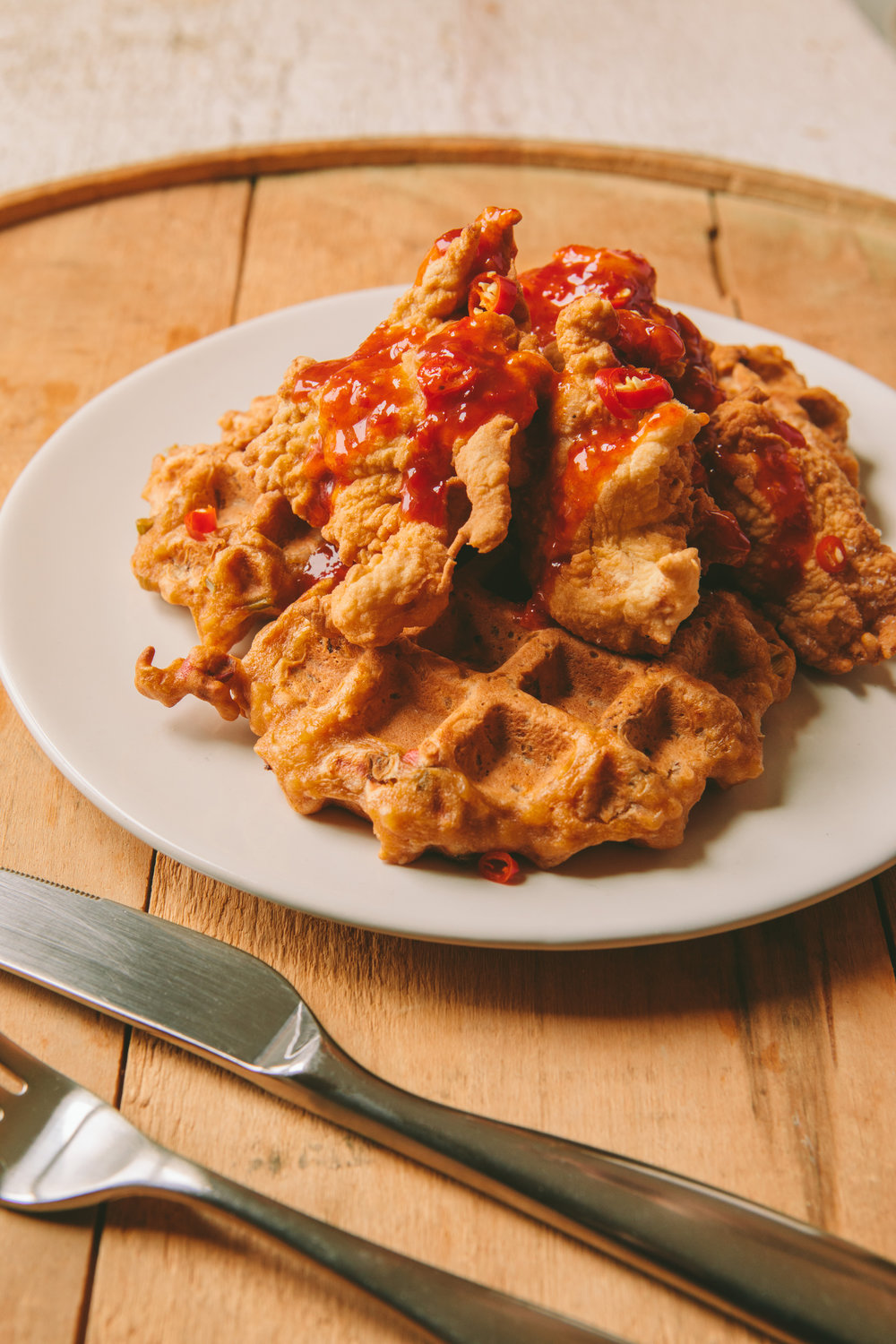 The Art of the Mashup_General Gau Chicken and Pork Fried Waffles_Brian Samuels Photography_January 2017-8902.jpg