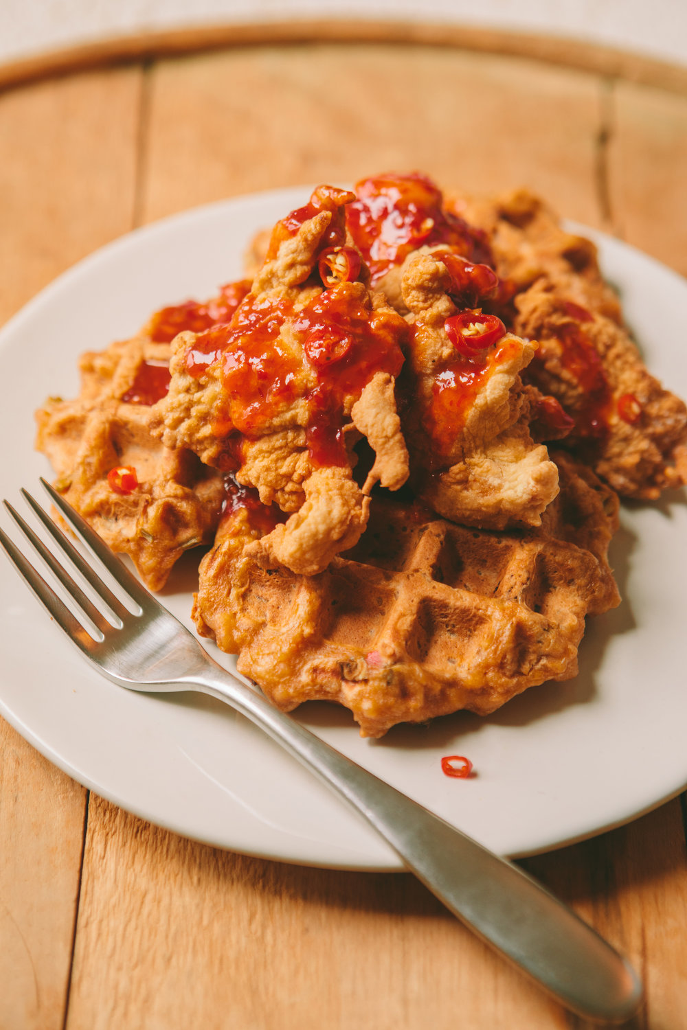 The Art of the Mashup_General Gau Chicken and Pork Fried Waffles_Brian Samuels Photography_January 2017-8915.jpg