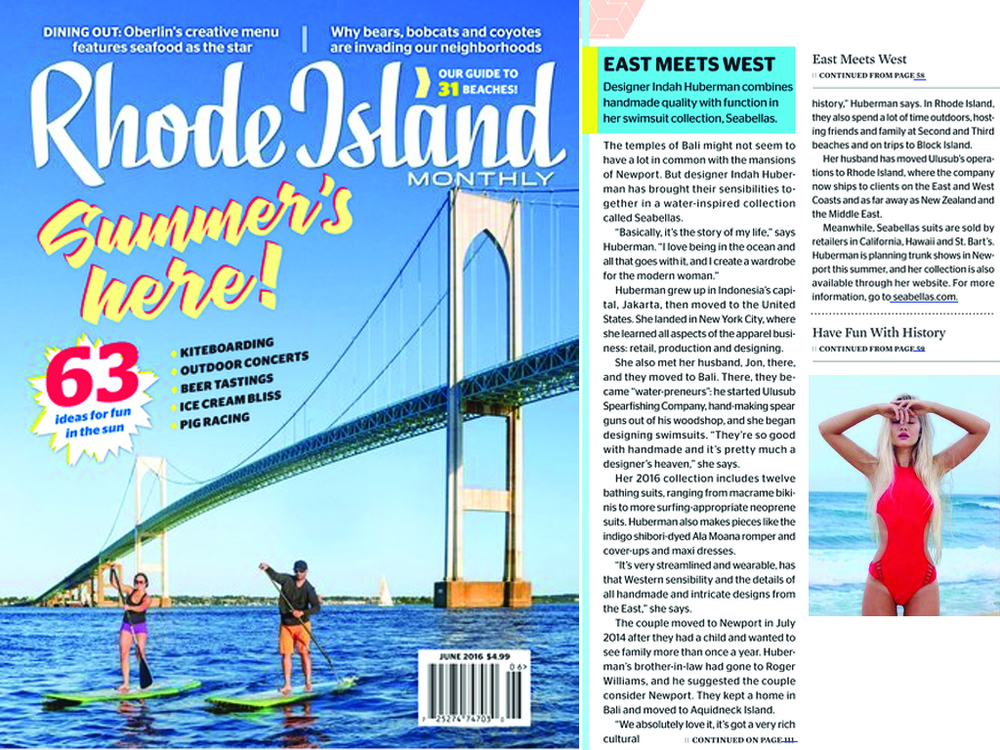 RHODE ISLAND MONTHLY MAGAZINE SUMMER 2016