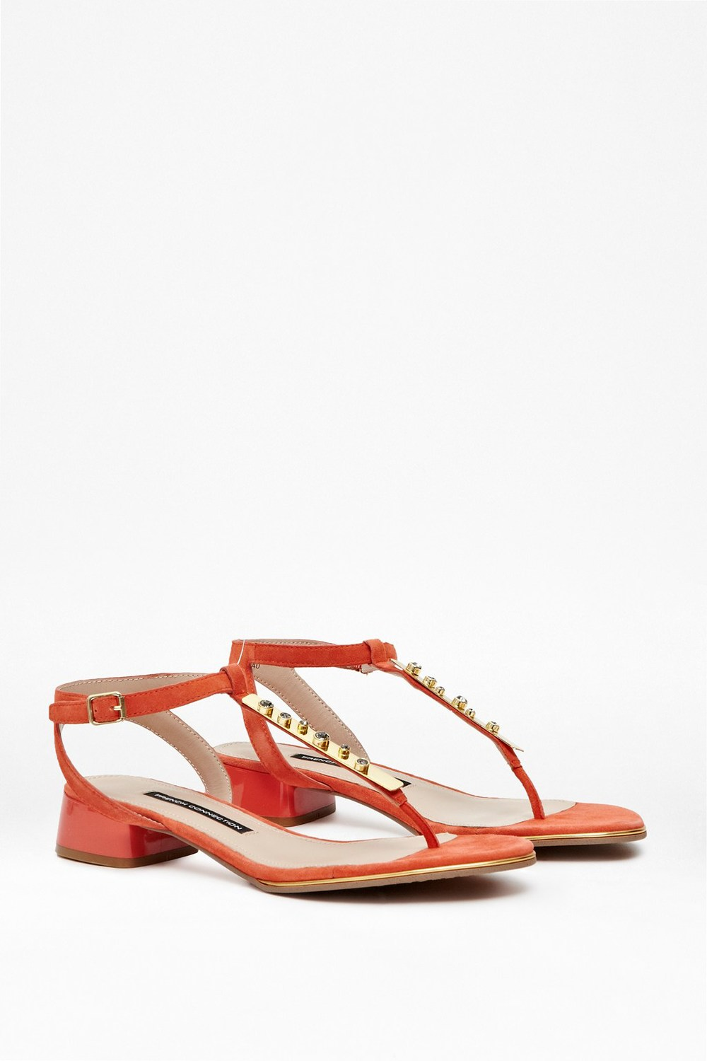 French Connection - Cole Embellished T-Bar Sandals £90