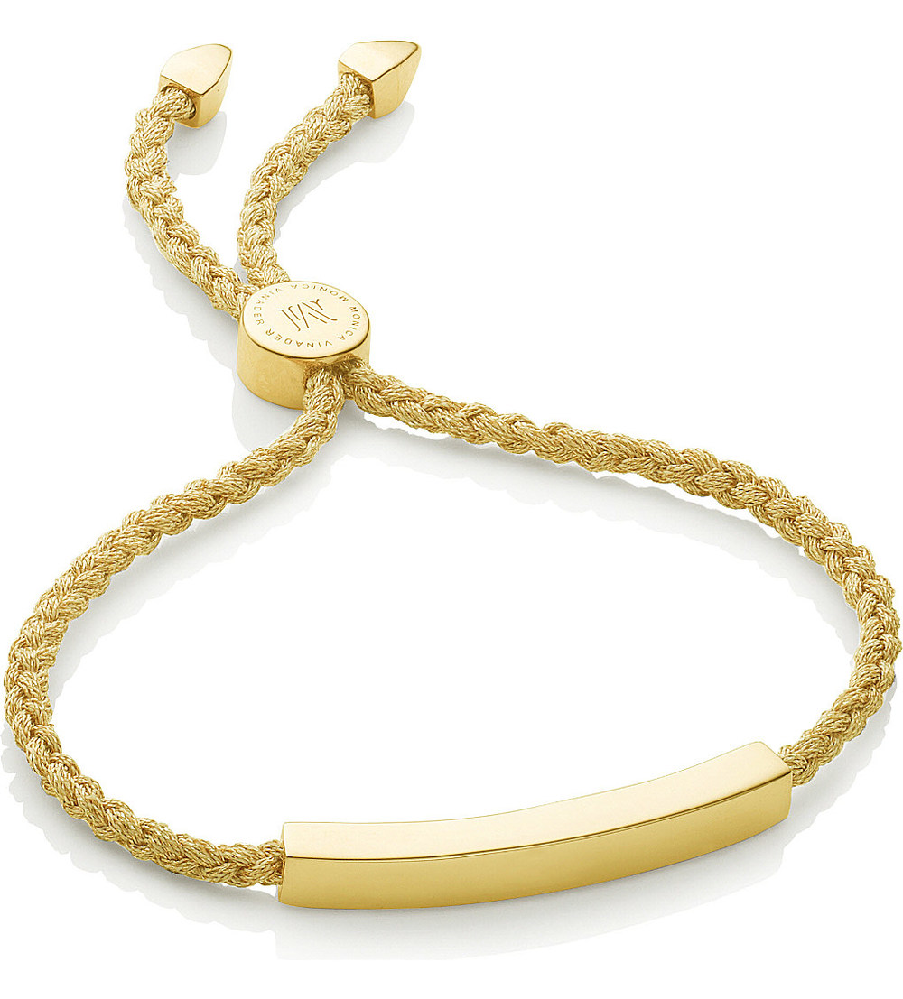 monica vinader - linea 18ct gold-plated friendship bracelet £175