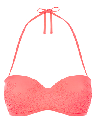 Accessorize - japanesque embroidered bikini top £19