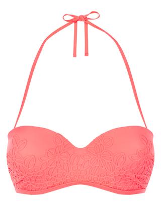 Accessorize - japanesque embroidered bikini top £19