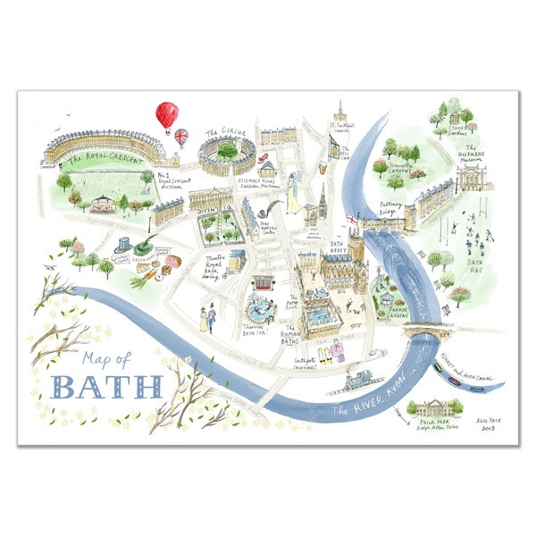 ALICE TAIT SHOP - MAP OF BATH £19