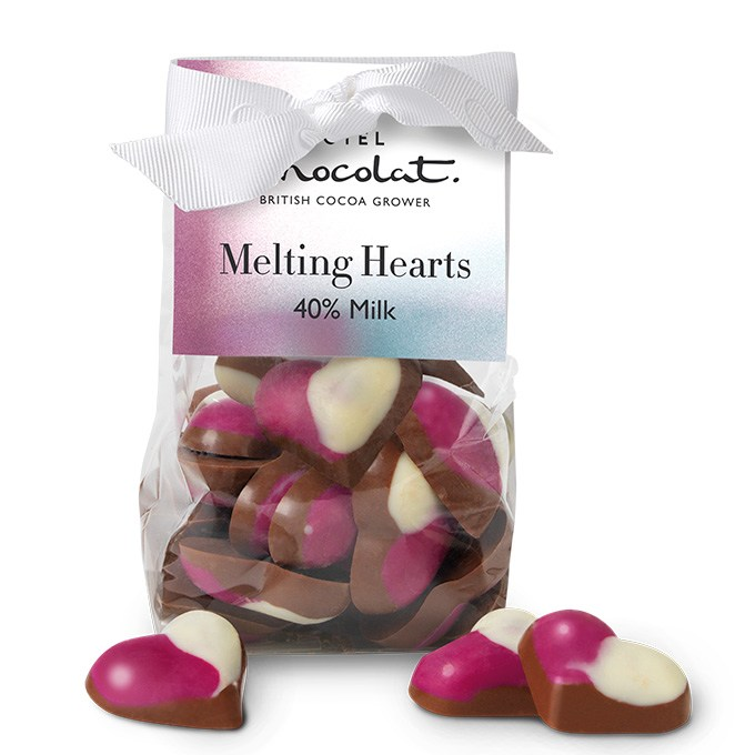 HOTEL CHOCOLAT - MELTING HEARTS, MILK CHOCOLATE £5.50