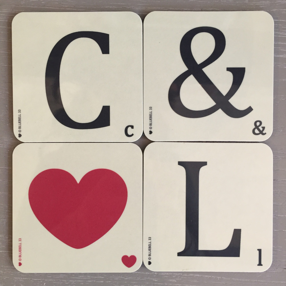 FRENCH GREY INTERIORS, BATH - ALPHABET COASTER £3.95 EACH