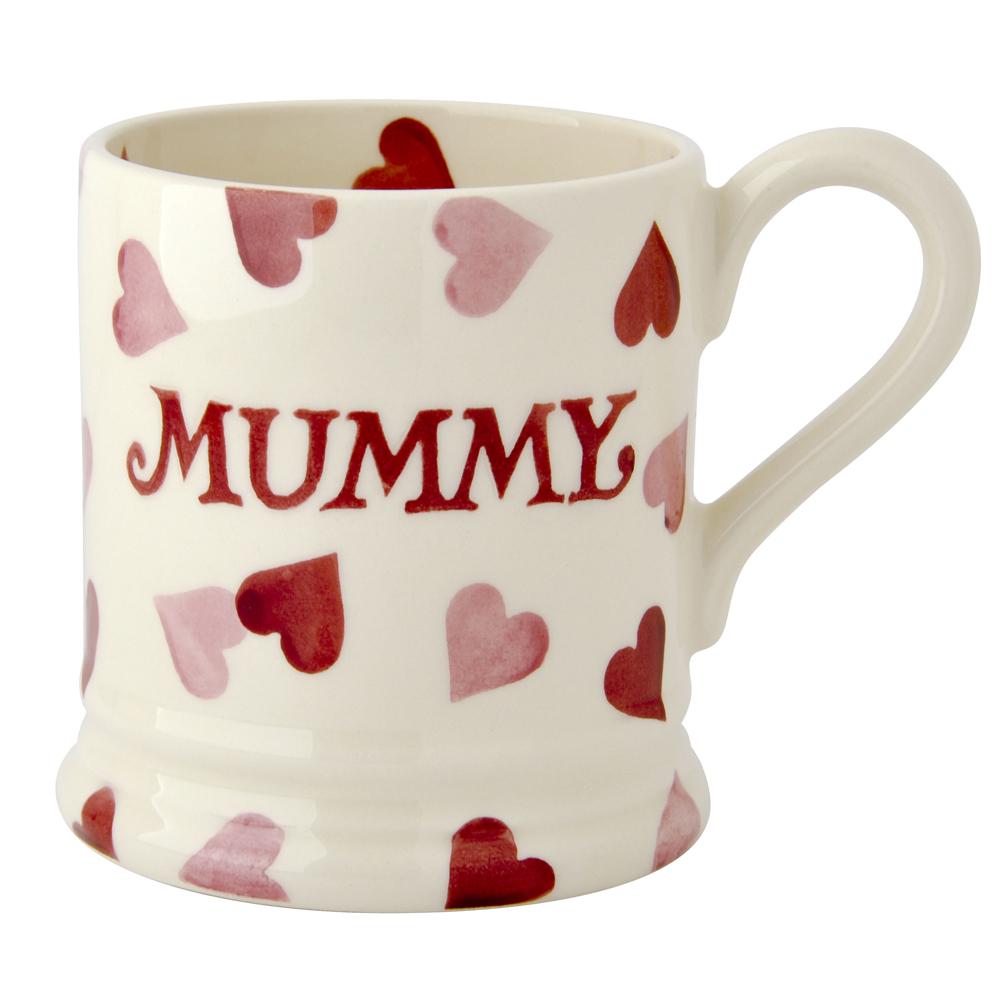 EMMA BRIDGEWATER - MOTHER'S DAY PINK HEARTS 1/2 PINT MUG £19.95