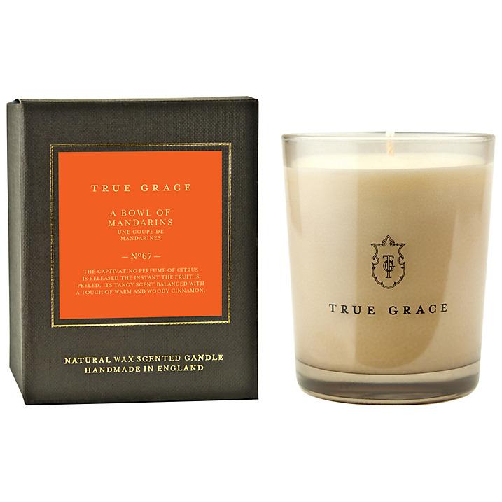 True grace - classic candle a bowl of mandarins £28