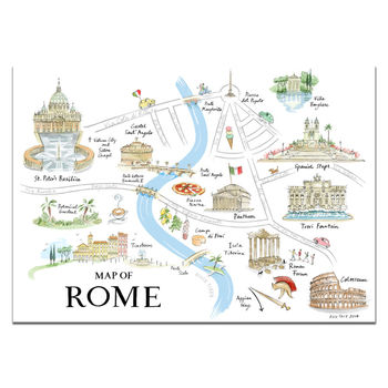 Alice Tait Map of Rome Print