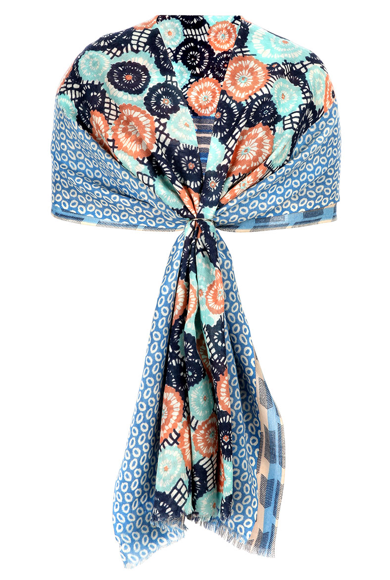BRORA - FLORAL PATCHWORK SCARF THE ODYSSEY - £98