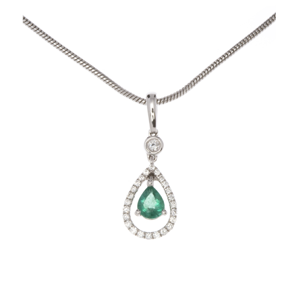 NICHOLAS WYLDE - EMERALD AND DIAMOND NECKLACE - POA