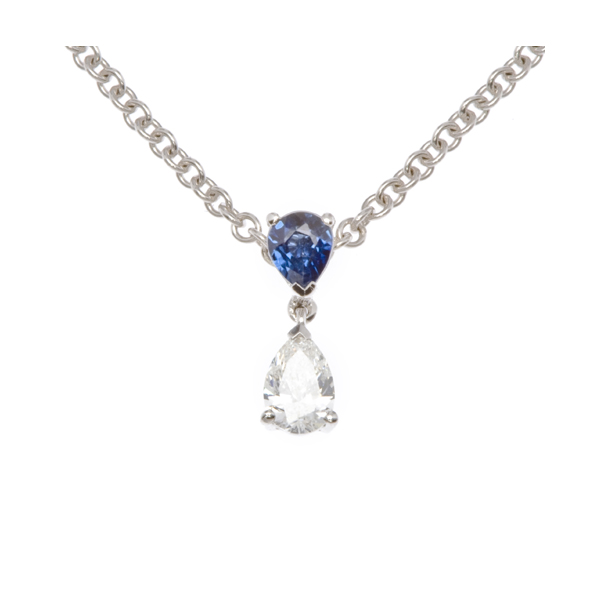 NICHOLAS WYLDE - SAPPHIRE AND DIAMOND NECKLACE - POA