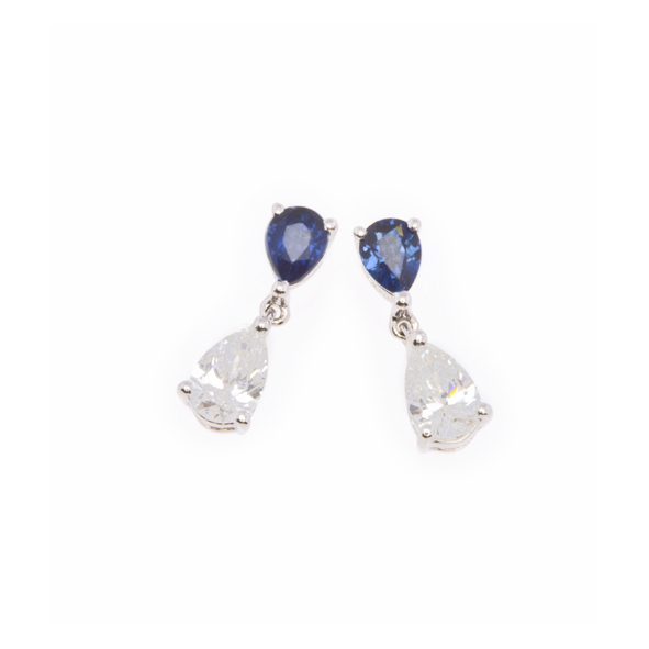 NICHOLAS WYLDE - SAPPHIRE AND DIAMOND DROP EARRINGS - POA
