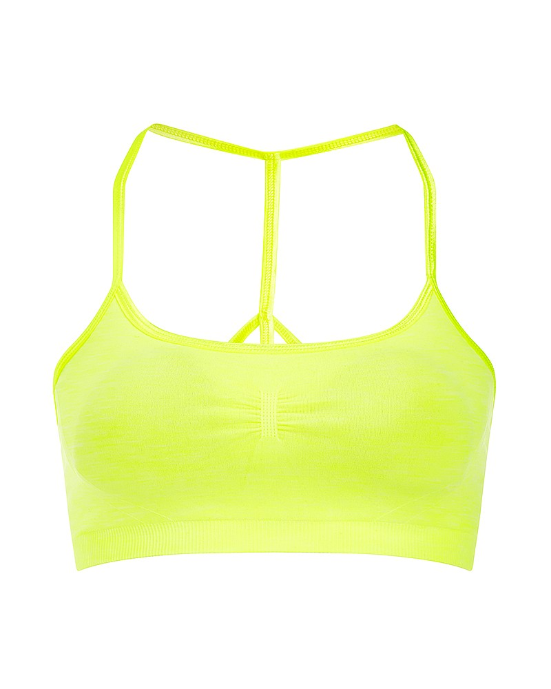 SWEATY BETTY - YARMA PADDED YOGA BRA IN CARNIVAL YELLOW - £40