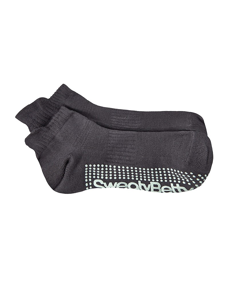 SWEATY BETTY - BARRE GRIPPER SOCKS IN CHARCOAL WASHED MINT - £12