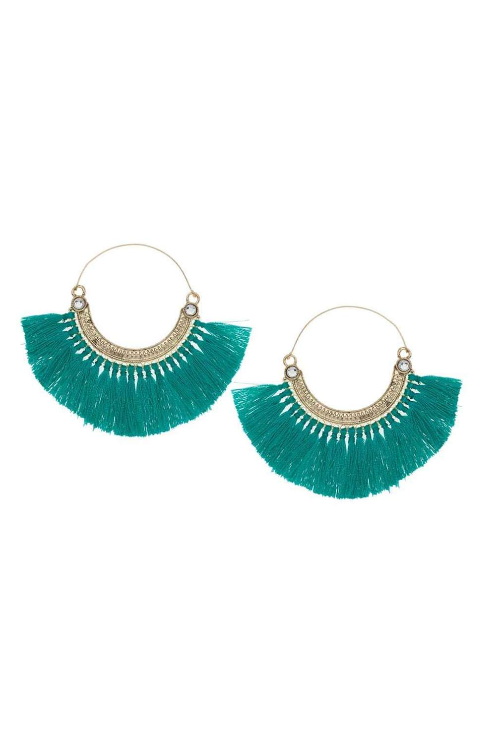TOPSHOP FRINGED HALF HOOP EARRINGS BY ORELIA - £20