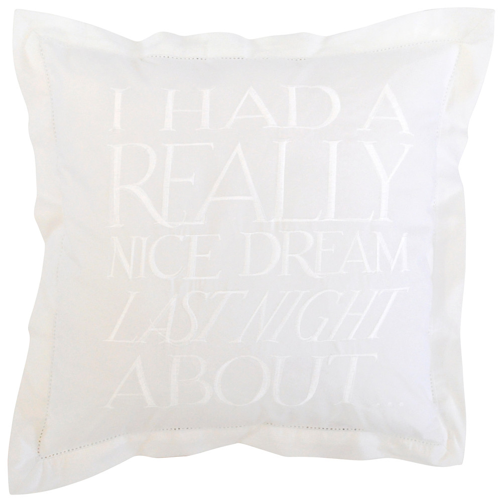 EMMA BRIDGEWATER EMBROIDERED WHITE 45 X 45CM CUSHION £30