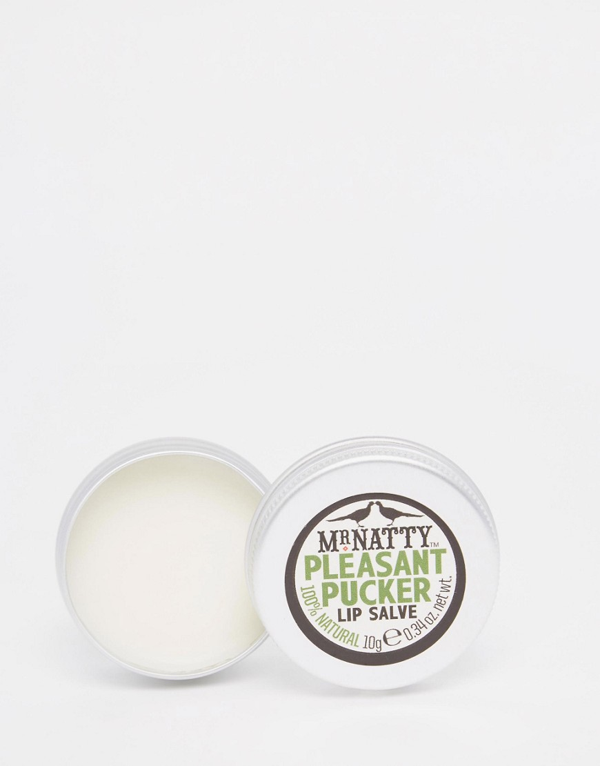 MR NATTY PLEASANT PUCKER LIP SALVE £8