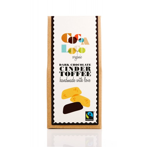 THE FOODIE BUGLE SHOP COCOA LOCO DARK CHOCOLATE CINDER TOFFEE - £4.00