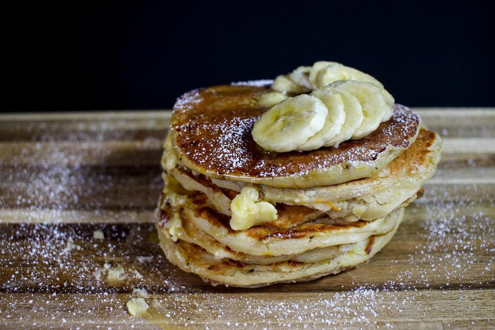 Homemade Recipe Banana Pancakes