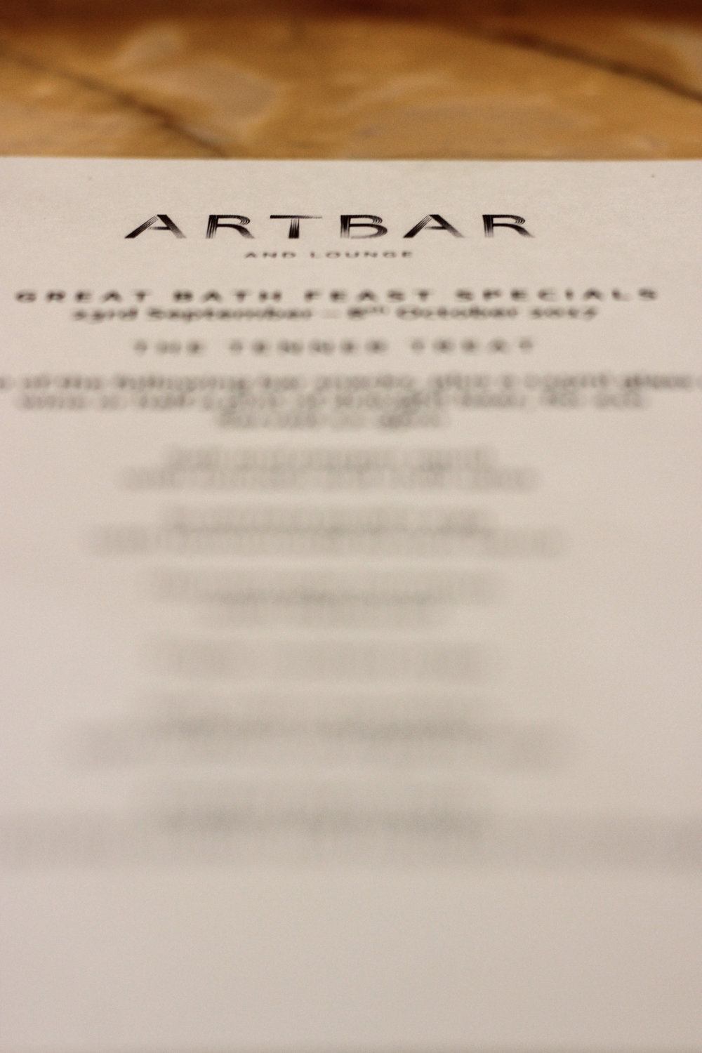 ArtBar The Abbey Hotel The Great Bath Feast Restaurant Review