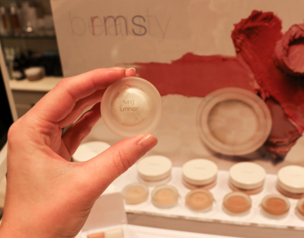"RMS Beauty's best-selling product - 'Living Luminizer.' "" It's the ultimate product for adding a dewy, light reflective glow and candlelight appearance to the skin""  says Rose-Marie Swift"