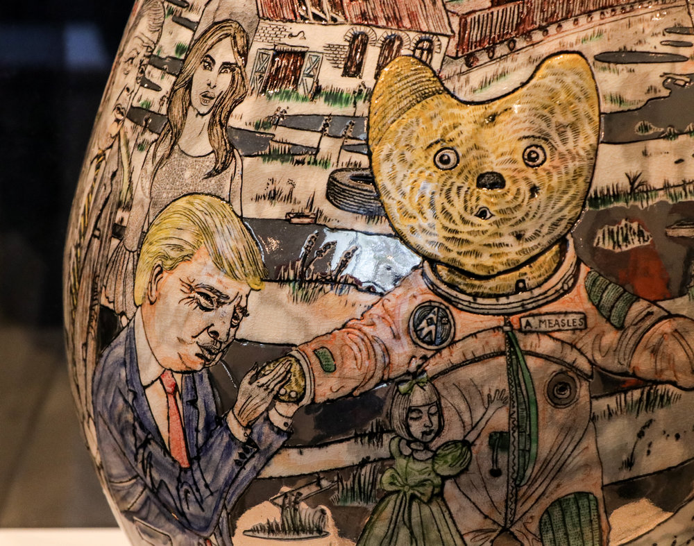 Alan Measels and Claire Visit the Rust Belt  2017 Glazed Ceramic