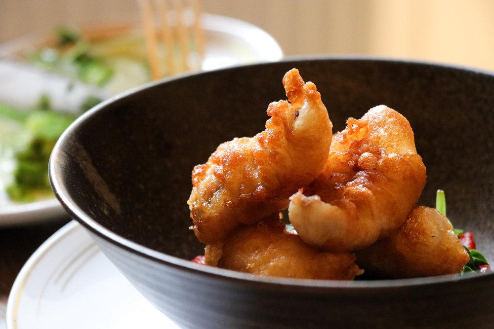 'Monkfish Scampi, Tomato Sugo' (£7.50)