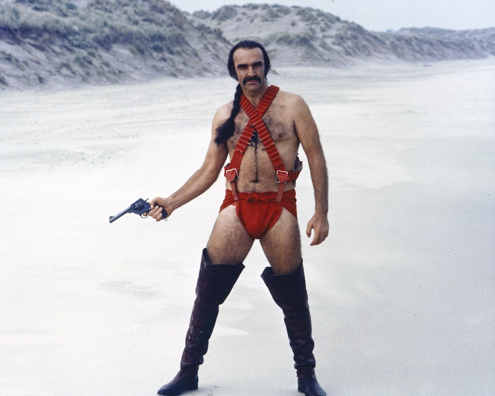 Above, Sean Connery in the 1974 film Zardoz.