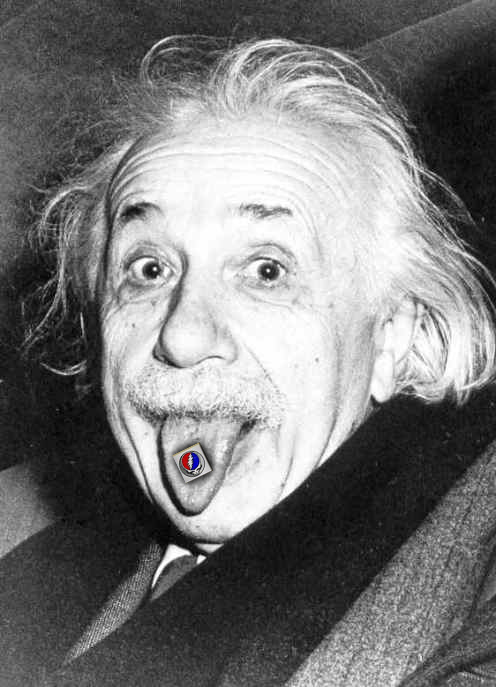 Einstein Skull and Bones and The Grateful Dead Acid Trip