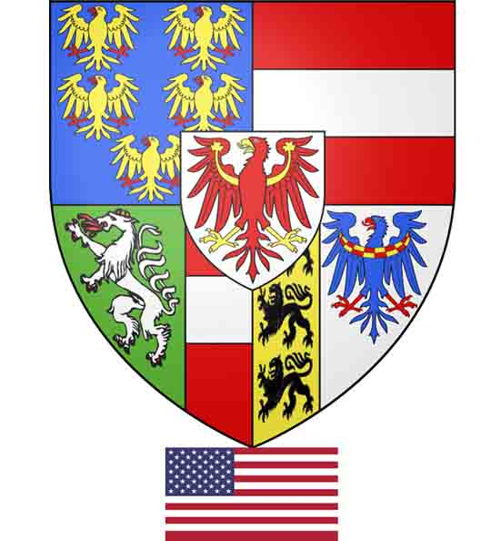 Coat of arms of Maximilan of Habsburg as archduke of Austria