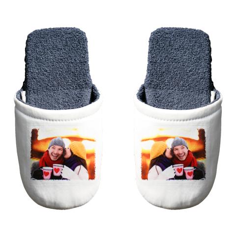 Pantofole 20,00 € - Morbide pantofole da personalizzare in blu o rosa