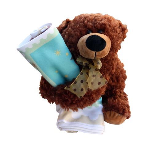Orsetto con copertina 29,00 € - Scalda le notti del tuo bambino con una coperta tenerissima che lo coccolerà in un caldo abbraccio