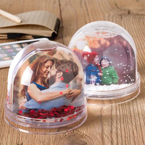 Photo Globe 7,50 € - Le tue foto nelle magiche sfere con neve o cuori