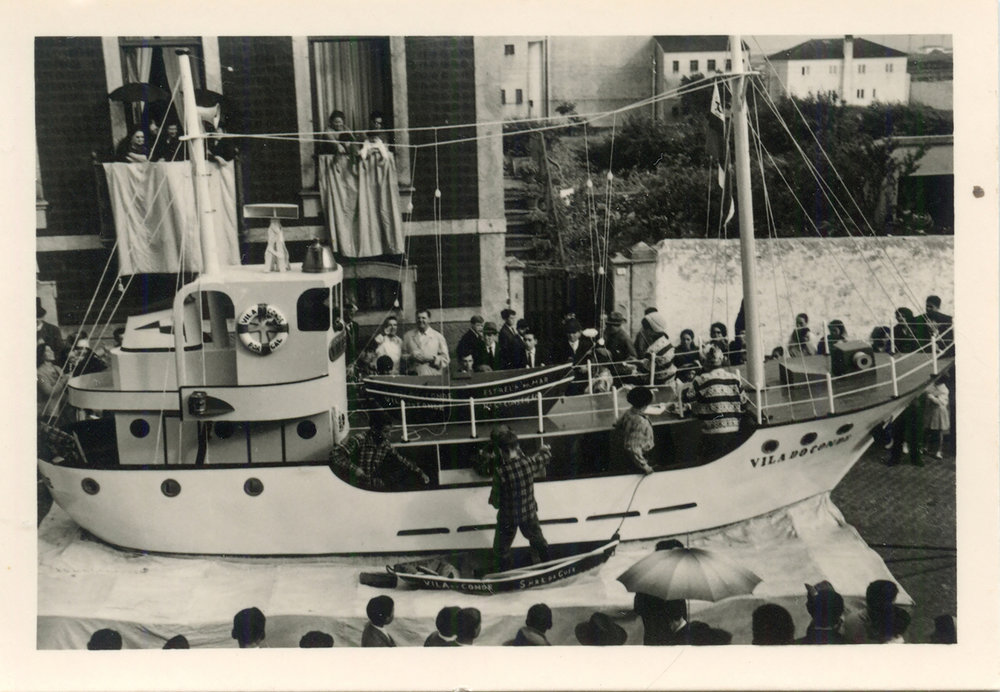 "Photo taken by my grandfather during a religious procession in honour of the ""Senhora da Guia"", who protects the fishermen. Date unknown"