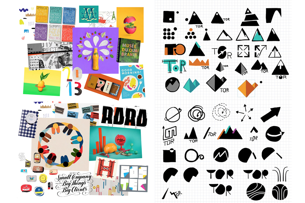 TOR MOODBOARD & LOGO SKETCHES