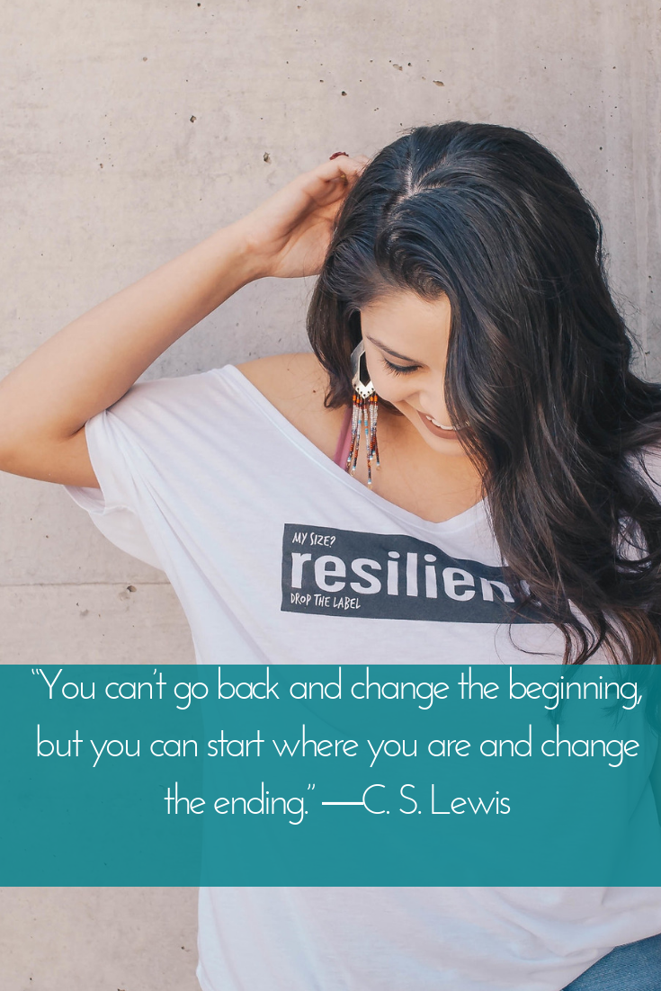 """You can't go back and change the beginning, but you can start where you are and change the ending."" ―C. S. Lewis.png"