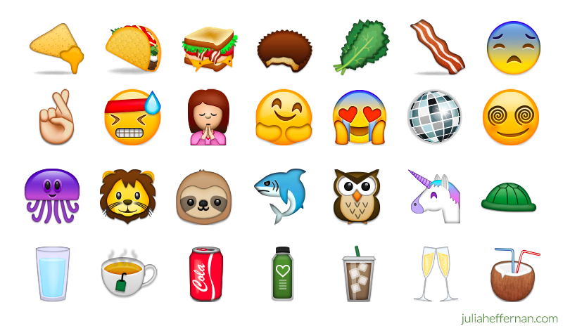 Custom emoji by Julia Heffernan