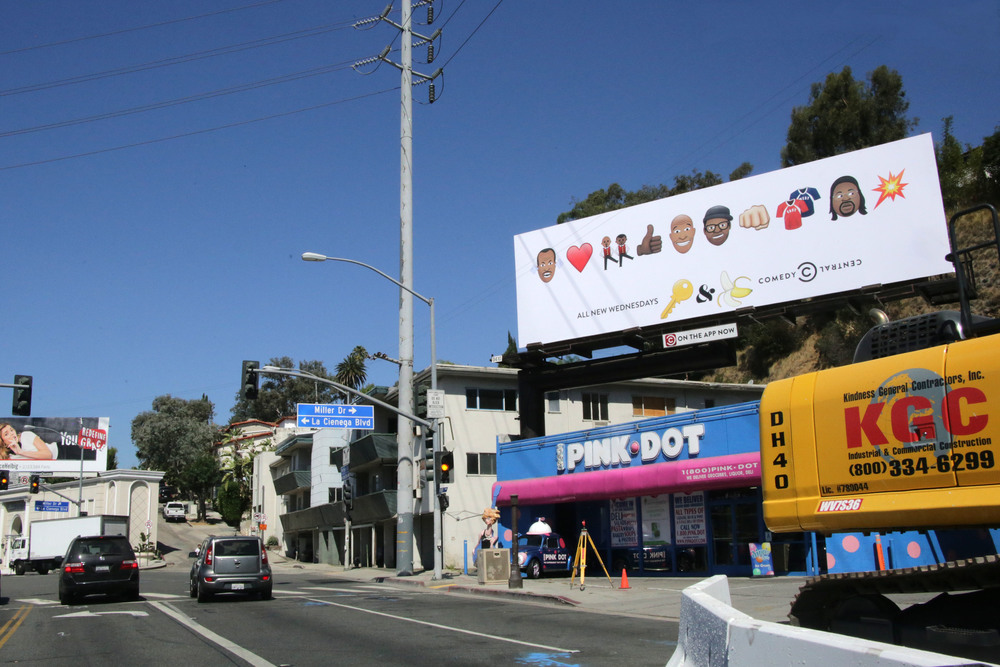 Key & Peele billboard featuring custom emoji by Julia