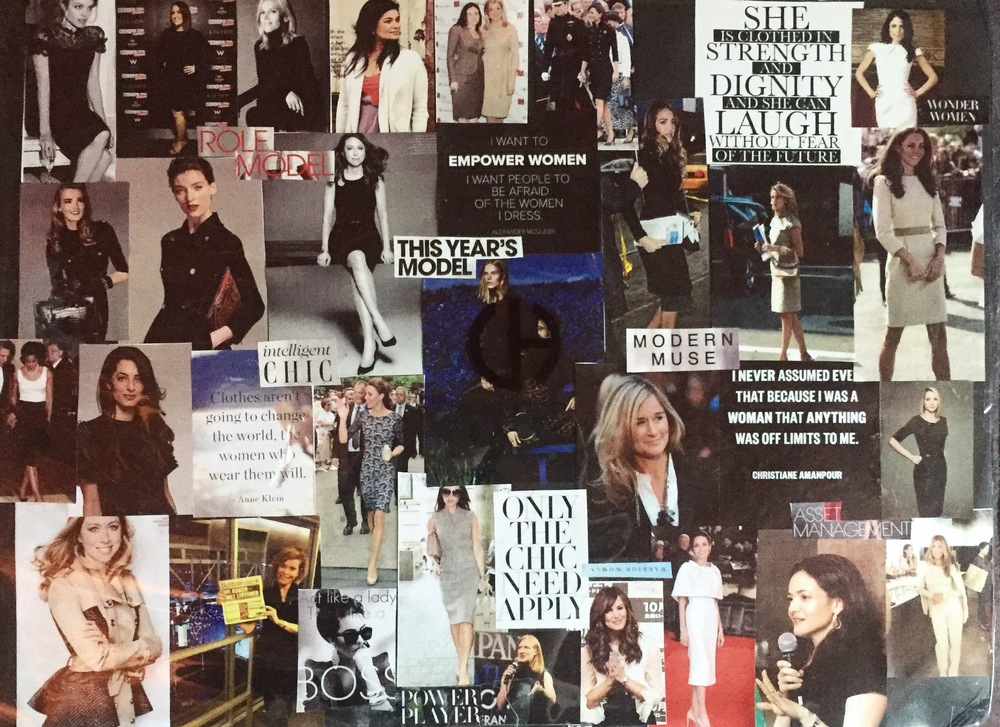 Snapshot of Carrie's inspiration board